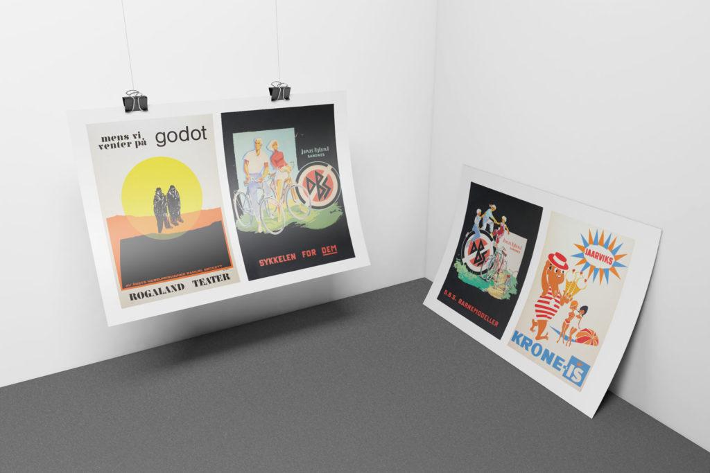 norsk filmtrykk reklame plakater rogaland teater stavanger