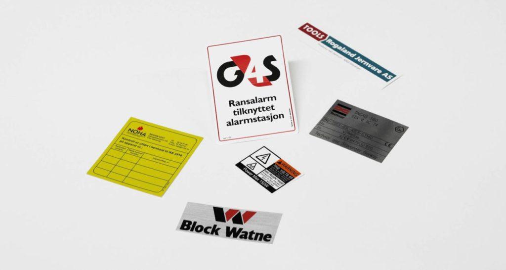 Eksempler på selvklebende etiketter